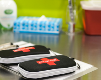Naloxone kits at Fred Victor Supervised Injection Site in Toronto
