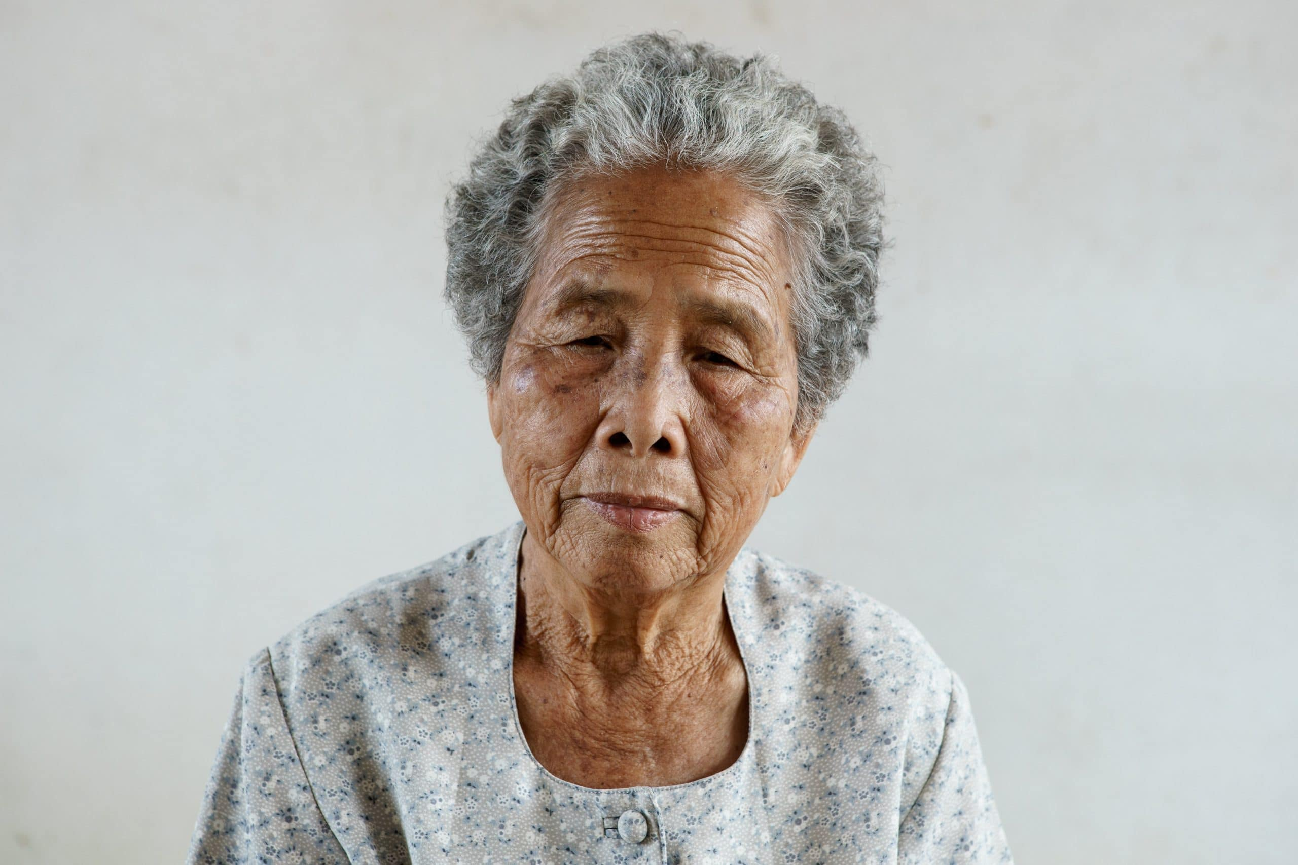 Portrait of senior asian woman