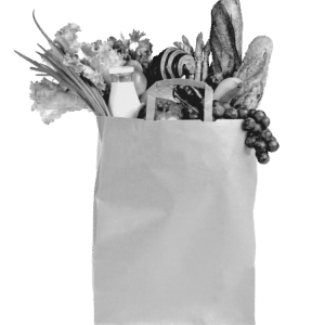 A paper bag of groceries